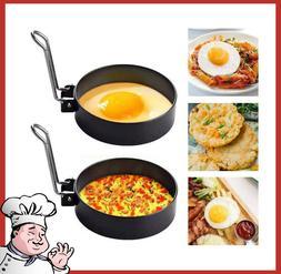 Round Egg Cooker Rings, Cooking Egg Maker Molds,2 Pcs Stainl