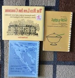 Set Of 3 Regional Cook Books, Northeastern US