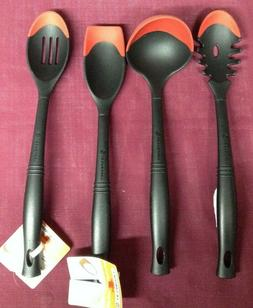 Set of 4 LE CREUSET Revolution Bi-Material Cooking spoons