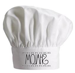 Shalom Chef Hat For Jewish Cooking | Jewish Toques