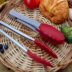Silicone Cooking Salad Stainless Steel Handle Serving BBQ To