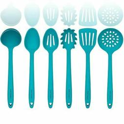 Silicone Cooking Utensil Sets- Sturdy Steel Core - Slotted M