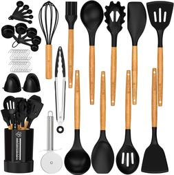 silicone kitchen cooking utensil set spatula set
