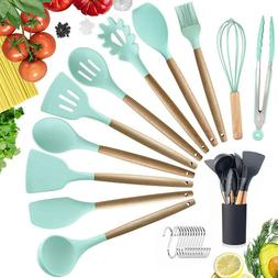 Silicone Kitchen Utensils Set of 10 Heat Resistant Non-Stick