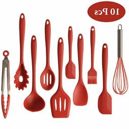 Silicone Kitchen Utensils Set of 10 Heat Resistant Non-Stick
