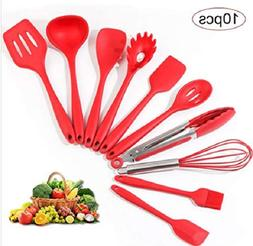 Silicone Non-stick Cooking Tools,Kitchen Essential,10 Pieces