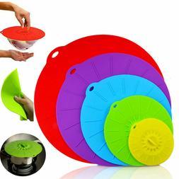 Silicone Suction Lid Bowl Kitchen Pan Cooking Pot Food Stora