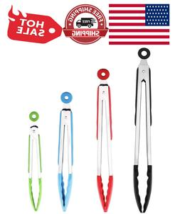 Silicone Tongs Stainless Steel Kitchen Tongs with Silicone T