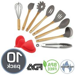SOUS CHEF 10 Pc Silicone Kitchen Utensil Set –  For Cookin