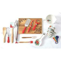 The Pioneer Woman Spring Bouquet 20-Piece Gadget Set Red