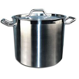 Winco SST-20 Stainless Steel 20 Qt Stock Pot