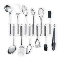 Jeaker Stainless Steel 12 Pieces Kitchen Cooking Kitchenware