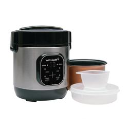 Stainless Steel 3 Cup Rice Cooker Non Stick Cooking Pot Smal