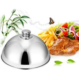 Stainless Steel Food Cover Cloche Plate Platter with Domed C