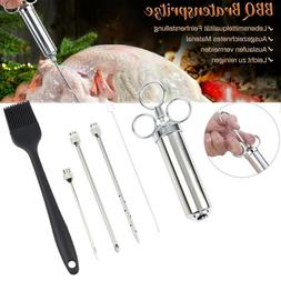 Stainless Steel Meat Injector Marinade Flavor Syringe Needle