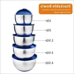 Stainless Steel Mixing Bowl Set Salad Bowl Kitchen Baking Co