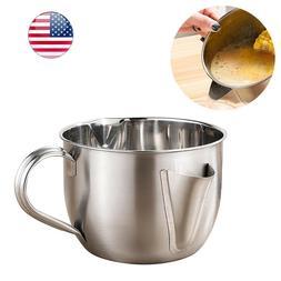 Stainless Steel Oil Filter Soup Separator Strainer Pot for K