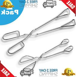 Stainless Steel Scissor Tongs With Plastic Silicone Handle K