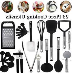 Kitchen Utensils Set 23Pcs Nylon Cooking Utensil Heat Resist