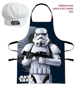 Star Wars Set Hat Chef and Apron Kitchen Cooking for Childre