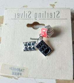 Sterling Silver Charm with Cupcake, Baking Tray and Cook Boo