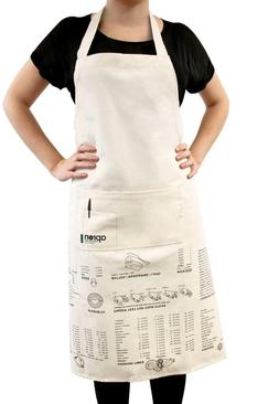 Suck UK Apron Cooking Guide   Full Length   100% Unbleached