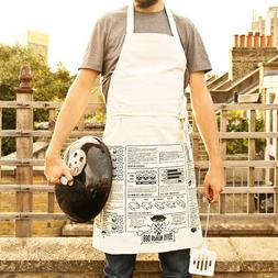 Suck UK BBQ Apron Cooking Guide   Full Length   100% Unbleac