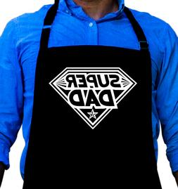 Super Dad Cooking BBQ Funny Apron Gift for Dad or Grandpa by