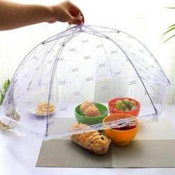 Foldable Table Food Cover Umbrella Style Anti Fly Mosquito C