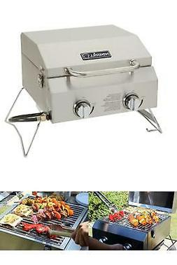 Table Top Grill 2-Burner Portable Propane Gas Stainless Stee