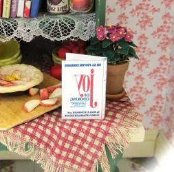 THE JOY OF COOKING Miniature Book Dollhouse Book 1:12 Scale