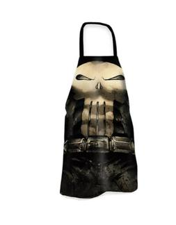 Marvel The Punisher Cooking Fabric Apron Adult New Skull