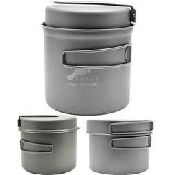 TOAKS Titanium Outdoor Camping Cook Pot with Pan and Foldabl