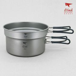 Keith Titanium Ti6017 2-Piece Pot and Pan Cook Set - 2.05 L