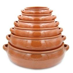Traditional Portuguese Vintage Clay Terracotta Cooking Pot C