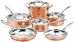 Cuisinart 10pc Tri-Ply Cooper Cookware Set: 1qt with Cover,2