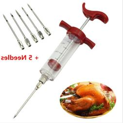 Marinade Injector Syringe Cooking Meat Turkey Chicken BBQ To
