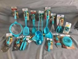 KitchenAid Turquoise/Sky Blue 31 Piece Set/Lot Gadgets Utens