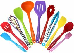 Kitchen Utensil Set - 11 Cooking Utensils - Colorful Silicon