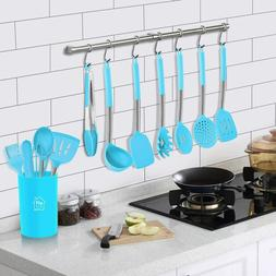 Utensils Set, 14 pcs Silicone Cooking Kitchen, Non-stick Hea