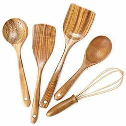 Utensils Set Wooden Spoons for Cooking Nonstick Wood Kitchen