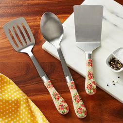 Pioneer Woman Vintage Floral 3 Pc Kitchen Utensil Tool Set S