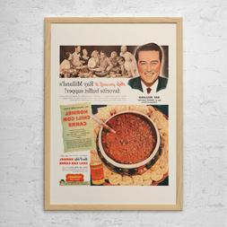 VINTAGE FOOD AD - Retro Mid-Century Ad - Vintage Cooking Pos