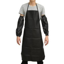Waterproof Anti-Oil Restaurant Cooking Chef Leather Apron Wi