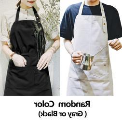 Waterproof Cotton Aprons for Women Men Kitchen Cooking Art R
