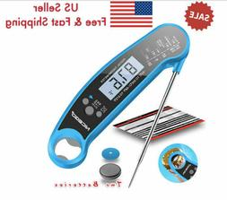 Waterproof Instant Read Meat Thermometer for Kitchen &Outdoo