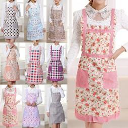 Women Cooking Chef Kitchen Home Restaurant Bib Aprons Dress