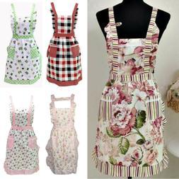Women Kitchen Restaurant Bib Cooking Apron Dress Waitress Ap
