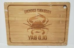 "Wooden Old Bay Cooking Wood Cutting Board - 15.5"" x 11"" x 0."