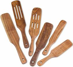 Wooden Spurtle Kitchen Tools Set Kitchen Natural Teak Wood C